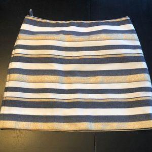 J.Crew Striped Mini Skirt